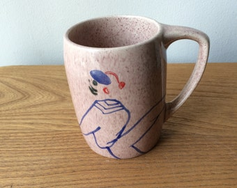 Mod Pink Speckled Mug