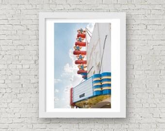 Dallas Print, Dallas Wall Art, Texas Theatre Photo, Dallas Photography, Texas Photography, Texas Wall Art, Texas Art, Dallas Architecture