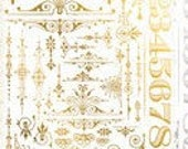 Tim Holtz Idea-ology Remnant Rubs Gilded Accents