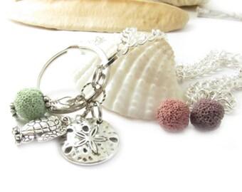 ID Lanyard, Aromatherapy Lanyard, ID Necklace, ID Badge Chain, Eyeglass Necklace, Turtle Lanyard, Beach Lanyard