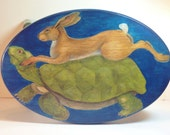 TORTOISE AND HARE Footstool