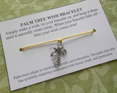 Palm Tree Wish Bracelet - Choose Your Color