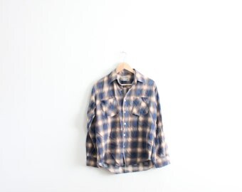 Soft Plaid Flannel 70s Shirt