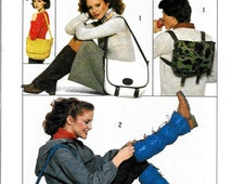 Vintage 1970 Accessories, LEGWARMER, SHOULDER  Bag, BACKPACK, Pattern by Simplicity 8146