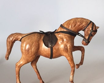 Vintage Leather Horse Figure
