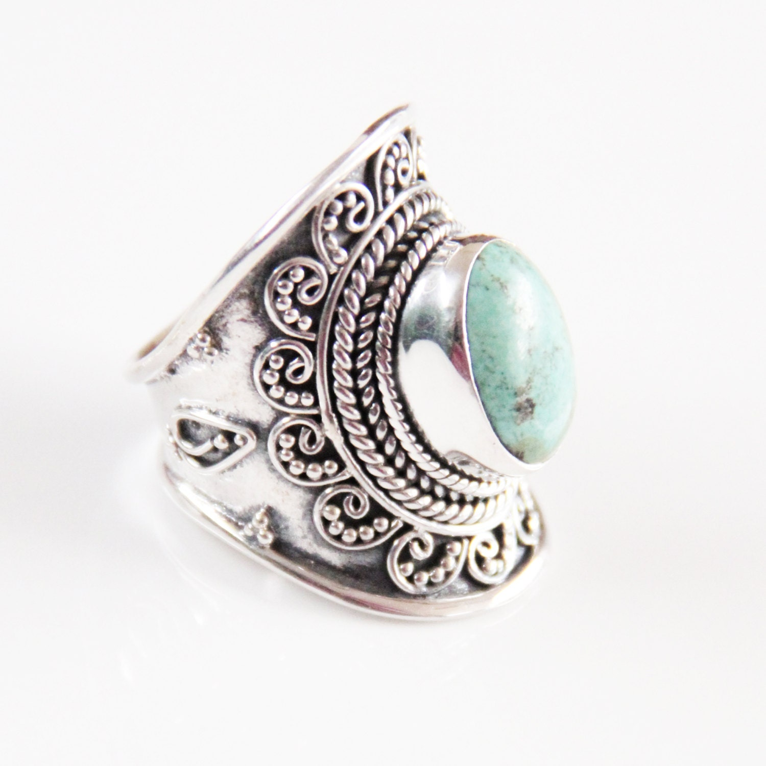 sterling silver rings personalized jewelry turquoise