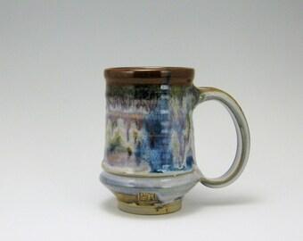 Set of 6-16oz Stoneware Mugs Calico Glaze