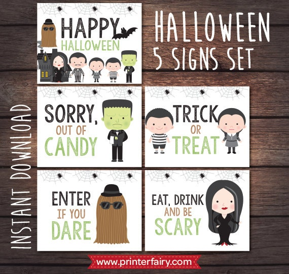 Decorating Ideas > Happy Halloween Kit, Halloween Door Decor, Halloween Sign  ~ 045651_Halloween Door Signs Printable