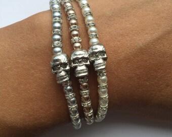 Skull Bracelets | Summer Bracelets | Arm Candy | Festival Bracelet | Beach Bracelet | Skull Bracelet | Friendship Bracelet | Skull Jewellery