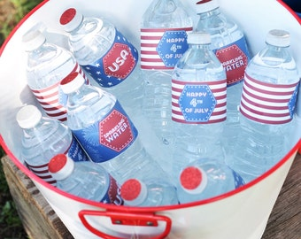 4th Of July Water Bottle Labels (12)