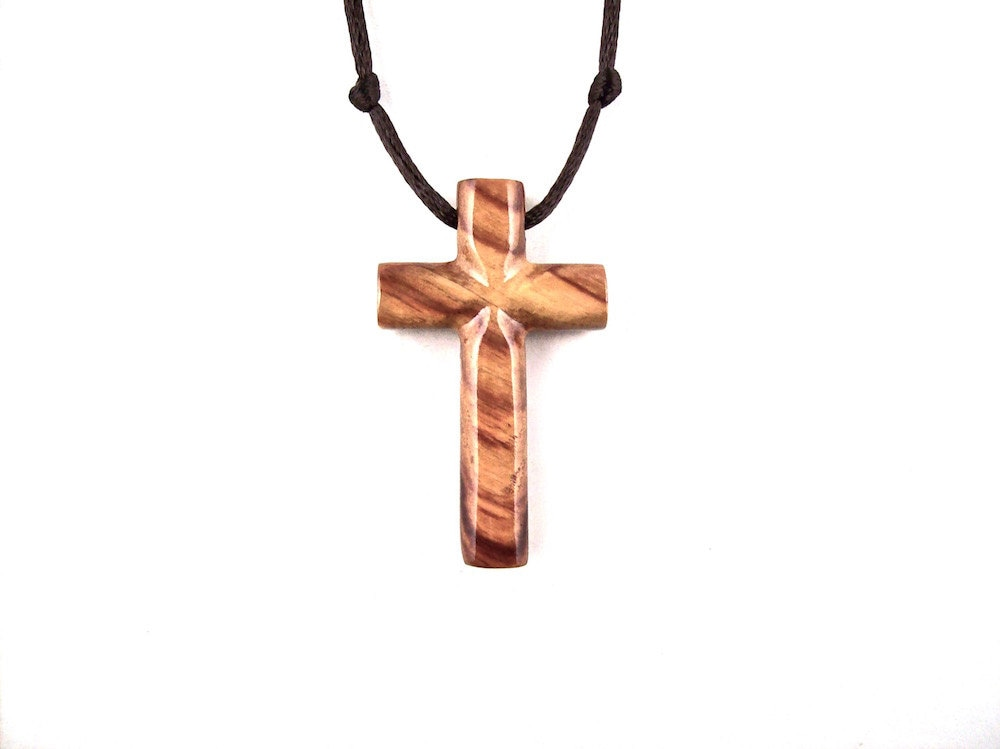 Wood Cross Necklace Wooden Cross Pendant Mens Cross