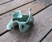 Fish and Reptiles - Playground for Critters - Ceramics and Pottery - Teal Aquarium Decor - Tank Decorations - Small Garden Toad Abode