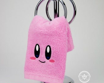 Kirby Inspired - Embroidered Hand Towel