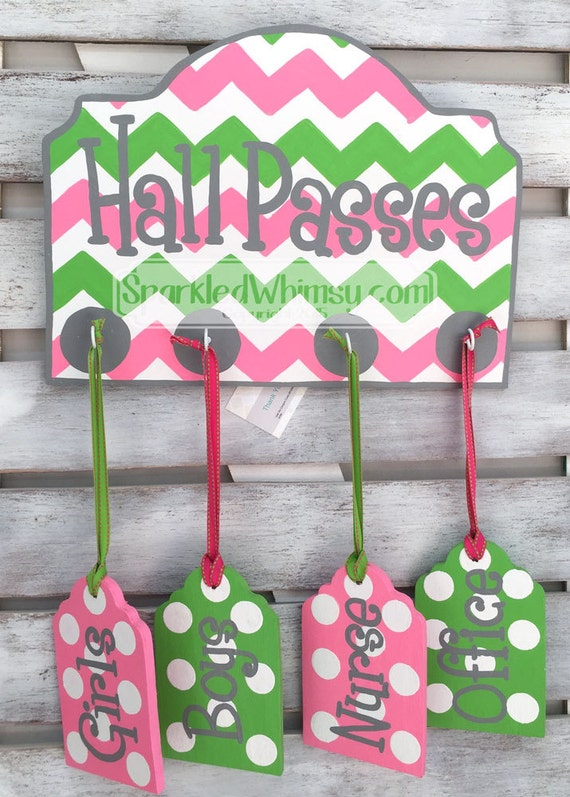 Classroom Decor Etsy : Hall passes sign for classroom decor teacher gift