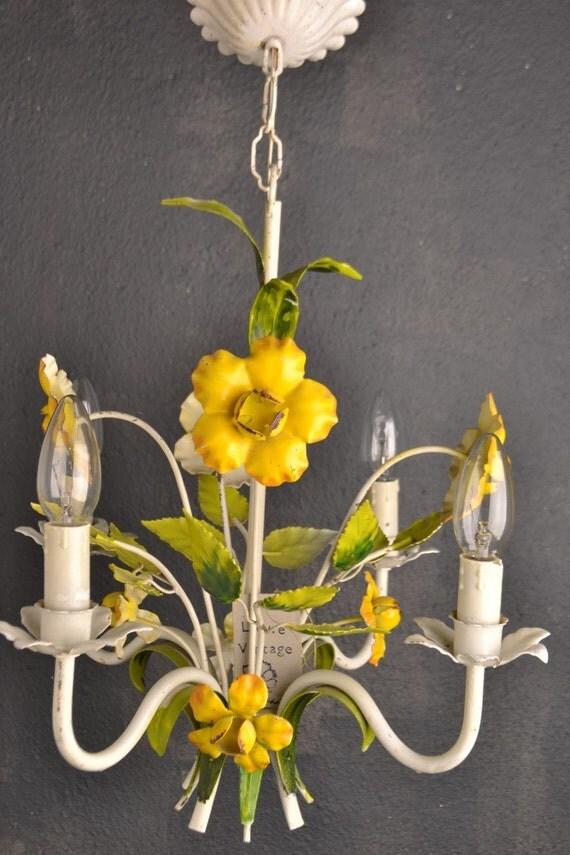 beautiful toleware flower chandelier.