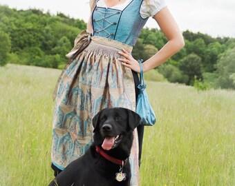 "Bavarian handcrafted couture dress ""Devanshi"" - Size 38 - SINGLEPIECE"