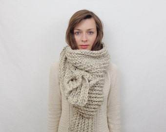 Giant Chunky Knit Scarf Wool Scarf | THE JUNEAU