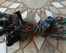 Vintage Christmas Lights NOMA 12 Socket C-7 With Clips Christmas Lighting Outfit