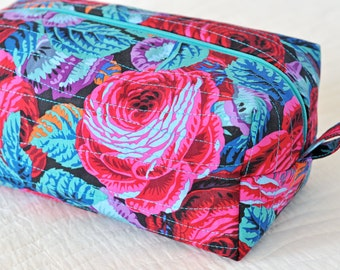 Boxy Pouch Cosmetic Bag Makeup Bag Gadget Case