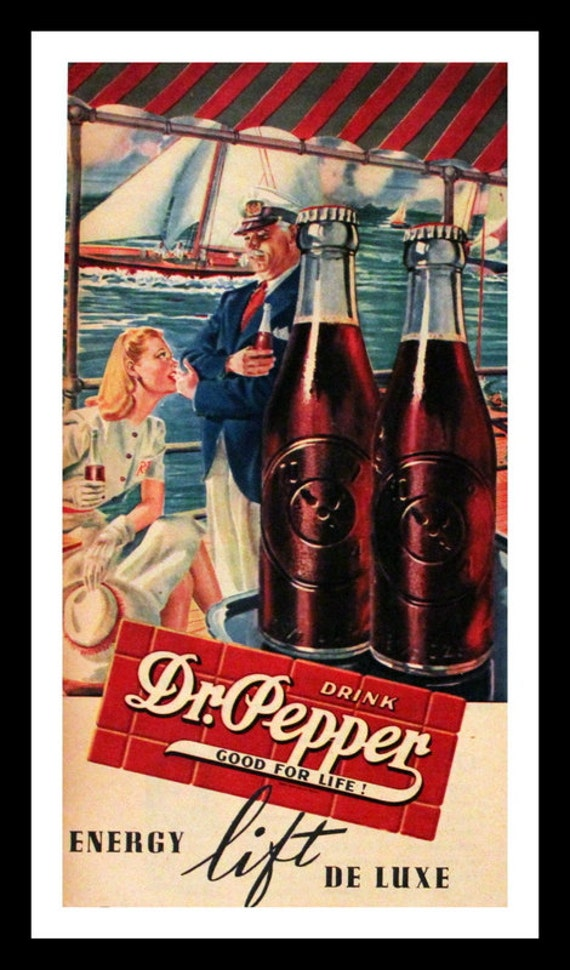 1945 Dr Pepper Ad Wall Art Home Decor Soda Soft Drink