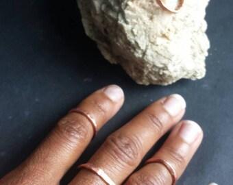 Minimalist Adjustable Copper Bands - Set of 4 -