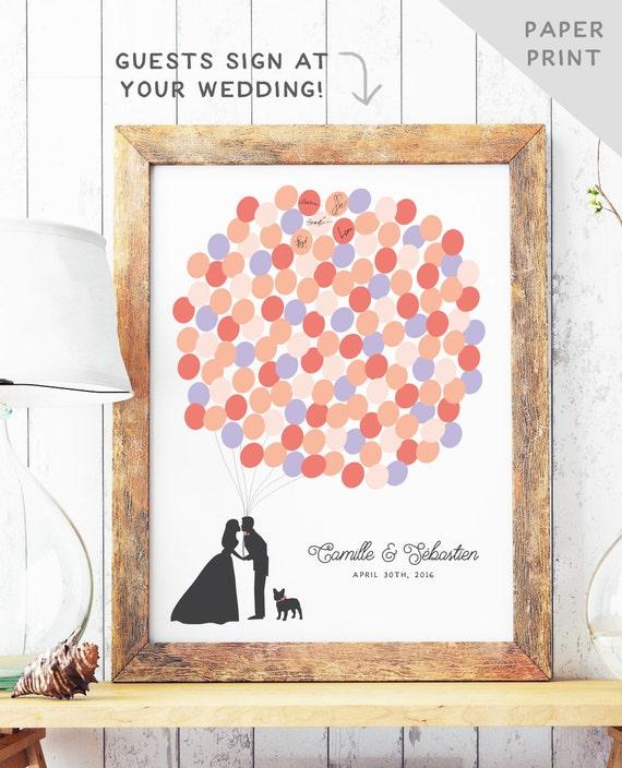 Fun Wedding Guest Book Ideas: Fun Wedding Guest Book Alternative Balloon Bunch Guest Book