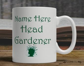 Head Gardener gift, gardener Mug, gift for gardener, mug for gardener, gardener coffee mug, gift idea for gardener gift idea  E1212