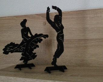 Wooden cut flamenco dansers.