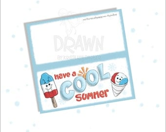 Have a COOL Summer Printable Bag Topper, birthday, favor, customizable