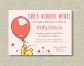 Classic Bear Baby Shower Invitation Pink - invite - balloon