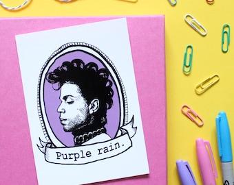 Prince, mini A6 postcard print