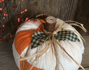 Pumpkin made from Vintage Cutter Quilt