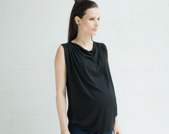 RUSNE NURSING TOP Sale! Silk and viscose jersey for fashionable pregnancy and breastfeeding. Created by Milksense.