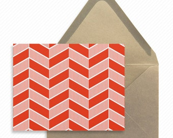 Geometric Herringbone Printable Thank You Card with Print-at-Home Wedding Dinner Menu Print-ready Place cards and Modern Table Number Card