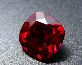 Ruby Square Faceted Gemstone Cushion Cut Ruby Gem Multiple Sizes to Choose C28R