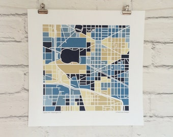 Capitol Hill DC Neighborhood Map Print