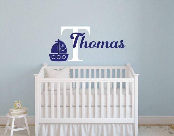 Nautical Nursery Decor Nautical Wall Decor Boy Name Decal - cheap home decor for nautical nursery