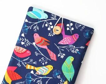 iPad Mini 4 Case, iPad Mini 4 Cover, Padded Custom Tablet Cover, Sleeve for iPad Mini 2 - Rainbow Birds on Blue