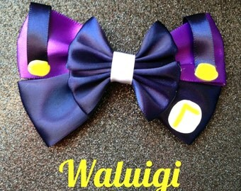 Waluigi inspired bow