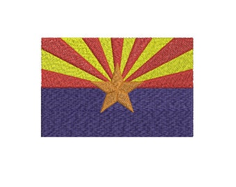 Machine Embroidery Design Instant Download - Arizona State Flag United States of America USA
