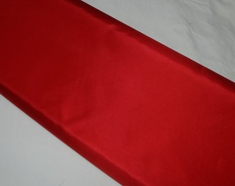 One Half Yard Cut of Red Taffeta Fabric, 100% Polyester, 60 Inches Wide, For Weddings, Formals, Evening Wear, Prom Dresses, Petticoats, More
