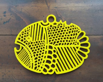 Hot Plate / Trivet Fish Shaped Dansk Vintage