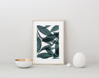 POSTER small BOTANICA #1 - Tropical leaves
