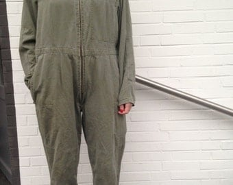 MILITARY overall 80s german army vtg one size oversize