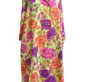 Vintage 60s muu muu /Hawaiian print Dress / Endora Bewitched / Styloungers / Size M / Sissy / Japan / tent dress / mod dress