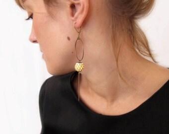 Earrings mustard pennant