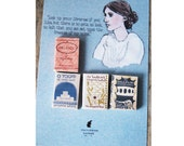 Virginia Woolf's  miniature book magnets set