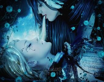 Dark fantasy women art print