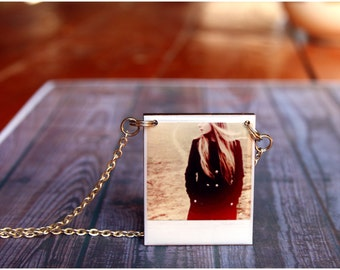 Custom Photo Necklace Personalized Necklaces Wood and Resin pendant Gift photo jewellry Friendship Gift  Name Necklaces Photo custom Jewelry
