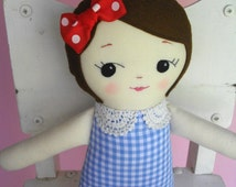 CLASSIC RAGDOLL - Handmade vintage-inspired cloth doll plush toy - Made to Order